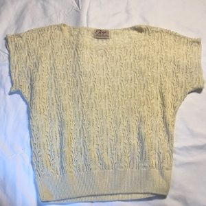 Vintage short sleeve sweater